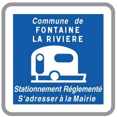 Panneau De Signalisation Routière, Type C23, Aluminium, Normes NF, Classe 1, 500*500mm