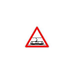 Panneau de signalisation, Type A1a, Aluminium, Normes Françaises, Classe1, Dimension 700mm