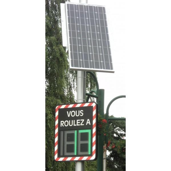 radar p dagogique indicateur de vitesse solaire ou clairage public. Black Bedroom Furniture Sets. Home Design Ideas