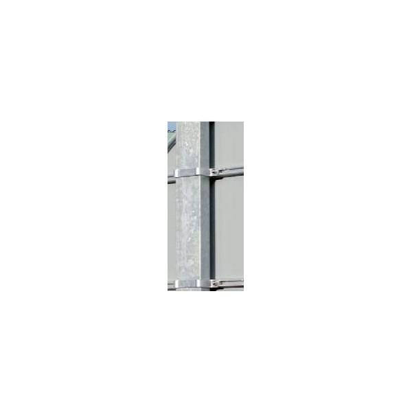 M t acier galvanis rond carr ou r tangulaire m t pour la signalisation des panneaux de for Portail acier galvanise ou aluminium