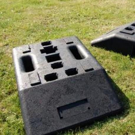 Socle en plastique recyclé