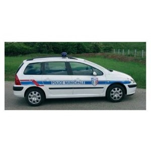 Balisage véhicule de police municipale