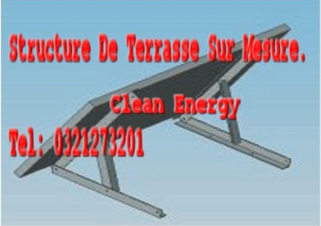 Structure sur terrasse pour 1PW500 ou 1PW750, aluminium