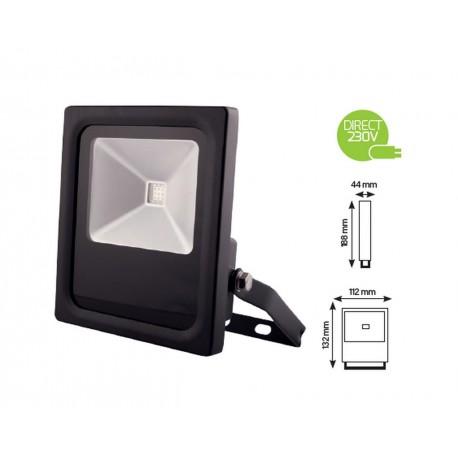 Projecteur 10W LED COB RGB extra plat