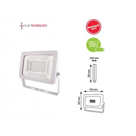 Projecteur 10W LED SMD SLIM Finition Blanche