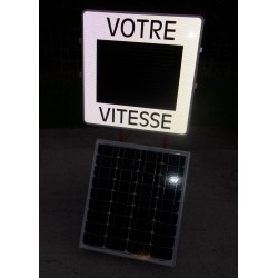 Solar mobile speed display