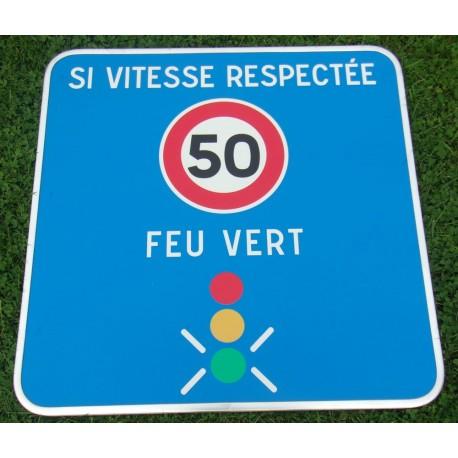 Panneau signalisation feu tricolore intélligent