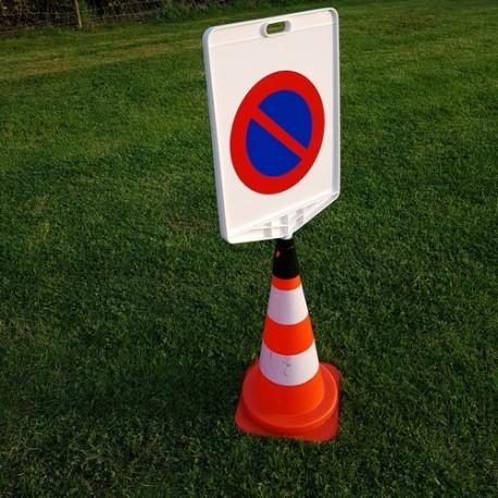 Panneau de signalisation mobile d'interdiction de stationnement