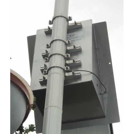 Mât En Aluminium Anodisé diamètre 90mm, 3m