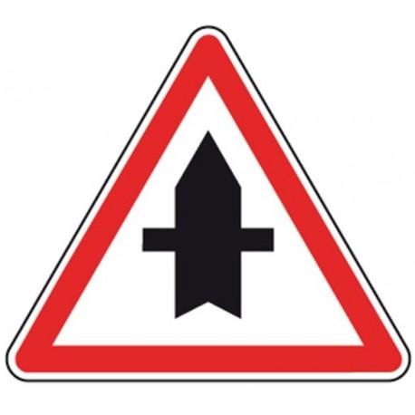 Panneau De Signalisation Routière, Type AB2, Aluminium, Normes NF, Classe 1, 700*700mm