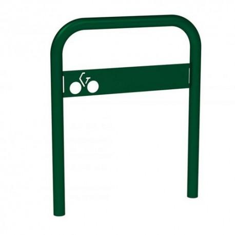 Appui vélo avec signalétique