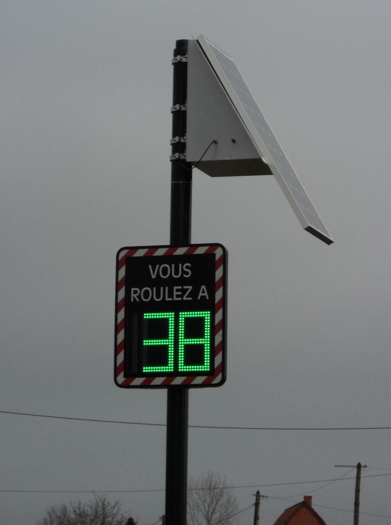 rada indicateur vitesse solaire